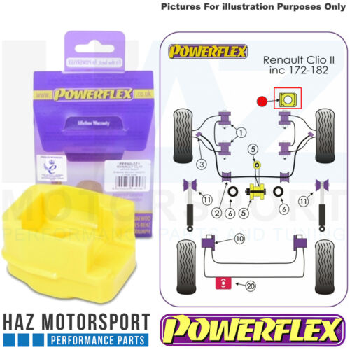 Powerflex Front Upper Right Engine Mount Insert For Renault Clio Mk2 inc 172//182