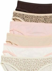 Essentials-Women-039-s-Cotton-Stretch-6-pack-Leopard-Assorted-Size-Large-IAu