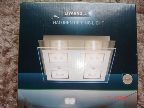 LIVARNOLUX HALOGEN CEILING LIGHT DIM.:25x25cm