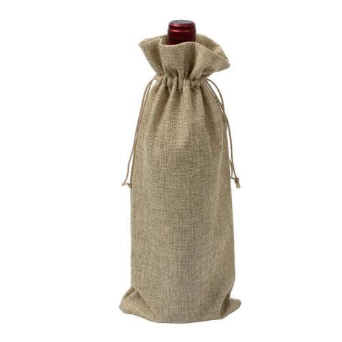 Bouteille de Vin Sac Décoration avec cordon de serrage support de stockage Cadeaux Multi Color