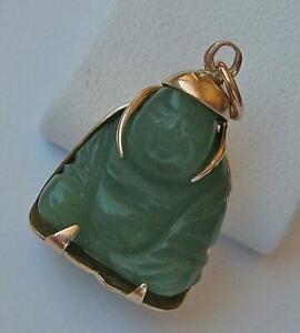 Anhaenger-Buddha-Jadestein-in-aus-14-Kt-585-Gold-pendant-Jade-Symbol
