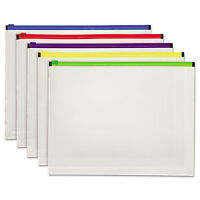 Globe-weis Poly Zip Envelope Letter Open Side Assorted 5/pack 85292 on Sale