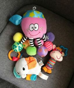 Bundle-baby-toys-Playgro-Bright-Starts-rattle-taggies