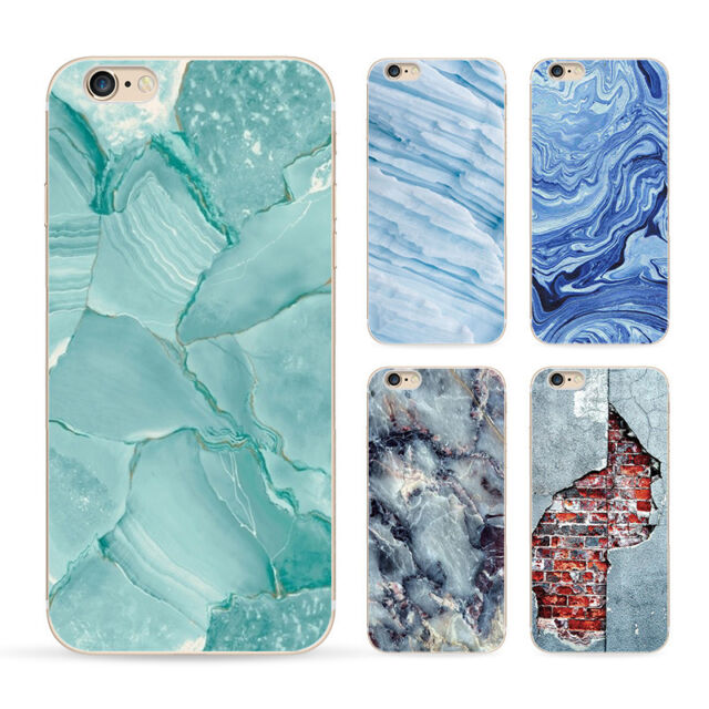 """Granite Marble Texture Print Clear Soft TPU Case For iPhone 6 4.7"""" & 6 Plus 5.5"""""""