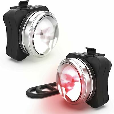 NP NIGHT PROVISION OPTIKS 210 Bike Lights Front and Back USB Rechargeable LED...