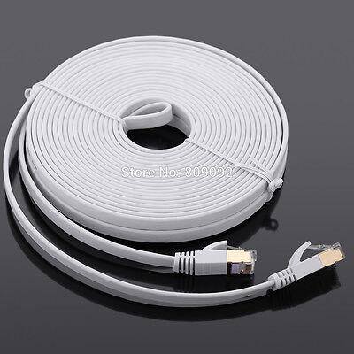 Mettere In Guardia 1m 2m 3m 5m 10m 15m 20m Rj45 Cat7 Rete Ethernet Cavo Lan Gigabit Super Lotto Regno Unito-