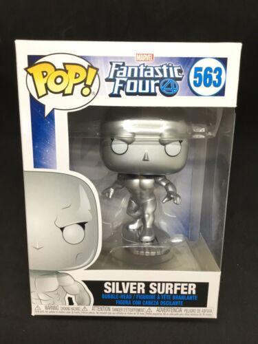 Nuevo Funko Pop Vinilo Marvel fantástico 4 Silver Surfer Bobble Head Figura #563