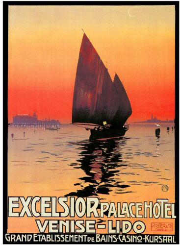 Excelsior Palace Hotel Venise Venice Italy Travel Poster Advertisement Print