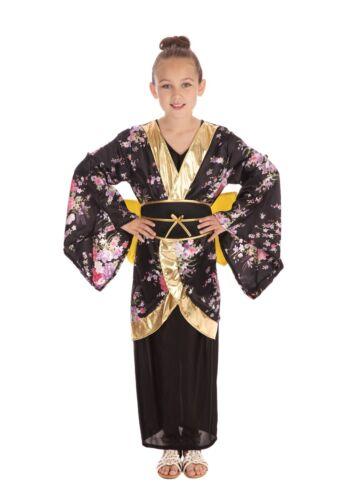 Bambini Geisha Kimono Giapponese Cinese Costume Libro Settimana Taglia 4-15 anni