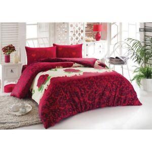 Bettwaesche-Baumwolle-200-x-220-cm-4-teilig-mit-Reissverschluss-pflegeleicht