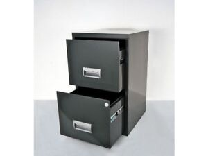 2 DRAWER STAPLES STEEL MAXI FILING CABINET / DARK GREY / A4 NEW +FREE 24h DEL 3219090951919