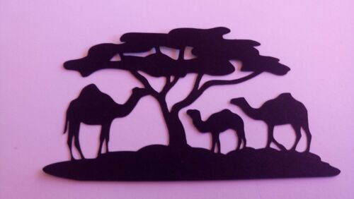 9 animaux sauvages Lion Elephant Tigre Girafe Leopard Arbres Paysage etc Silhouettes