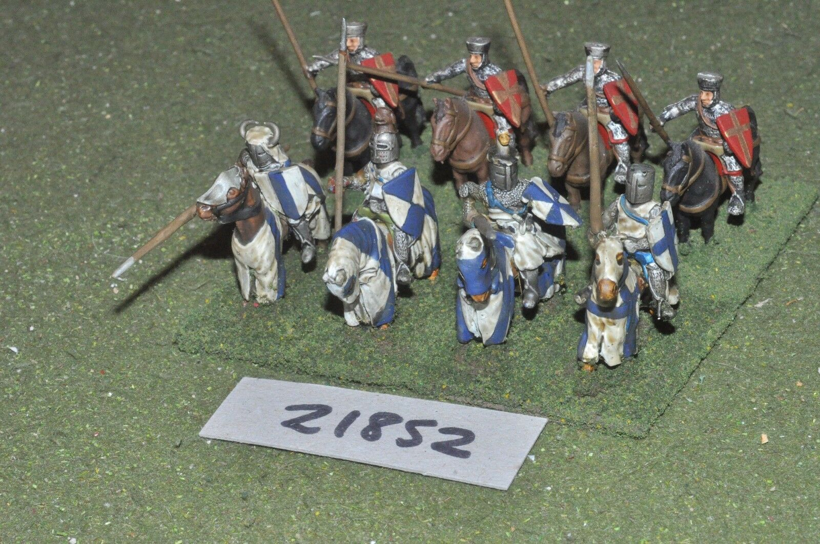 25mm medieval   english - men at arms 8 figs cavalry - cav (21852)