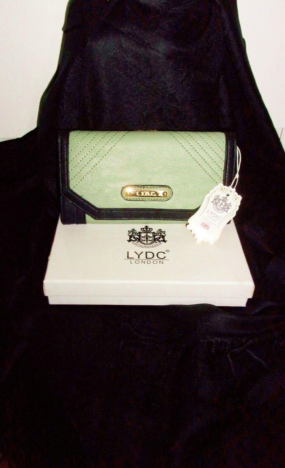 LYDC Designer Purse with Gift Box & Black Pashmina Scarf - Gift Idea