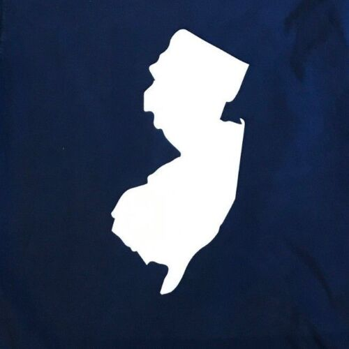 VERY recognizable VERY COOL NEW JERSEY STATE LONG SLEVE  T TEE SHIRT NAVY