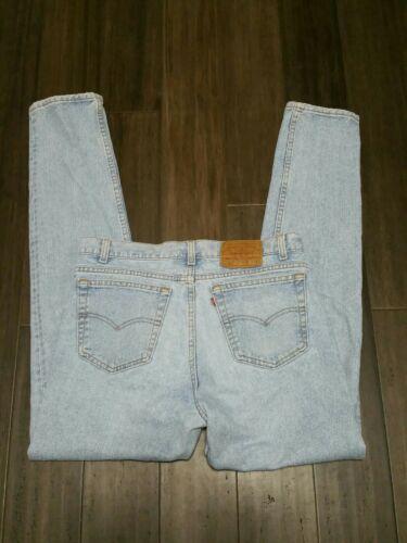 Vintage Levis 512 Mens Slim Tapered Denim Jeans Si