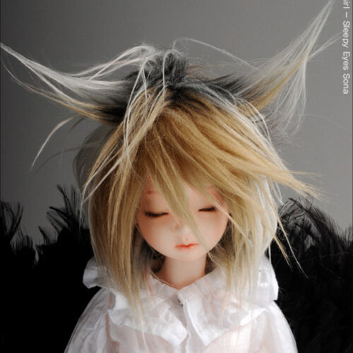 "/""  Mohair Free Style Wig Dollmore 1//4 BJD OOAK Supplier MSD wig 7-8 Mix.Brown"