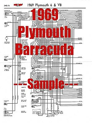 1969 Plymouth Barracuda Full Car Wiring Diagram *High ...