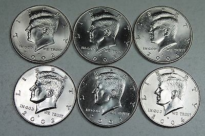 2003 P D GEM  BU Kennedy Set  in mint cellos 2 Coins FREE SHIPPING