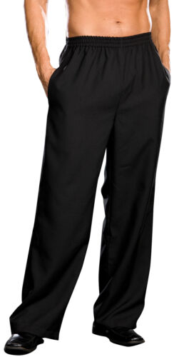 Pants Mens Black Wide Leg Polyester Costume Halloween