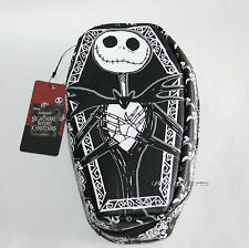 Disney Nightmare Before Christmas Jack Face Coffin Makeup Cosmetic Bag Purse NEW
