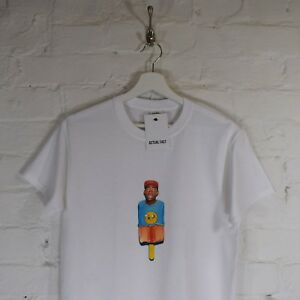 73e76ef12fd7 Tyler the Creator Rap Odd Future White Lollipop Hip Hop Tee T-shirt ...