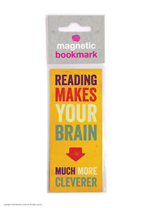 Brainbox Candy Reading novelty magnetic bookmark funny cheap present gift brain 5051912024351