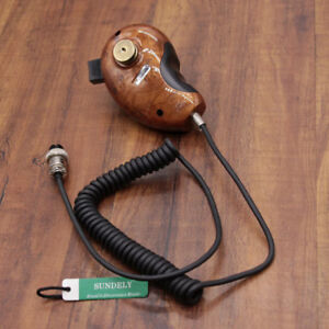 Details about Mic Wood Grain HG-M84W 4-Pin Noise Cancelling CB Microphone  for Cobra Uniden