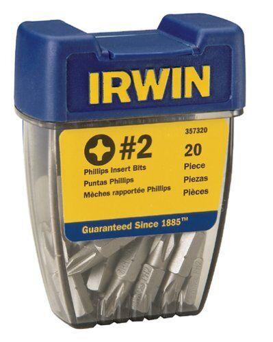 Irwin 357220 #2 Square Bit Tip 20 Pack