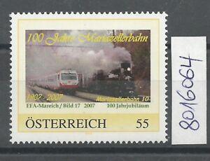 """Österreich PM personalisierte Marke """"100 Jahre Mariazellerbahn 10"""" ** - St. Pölten, Österreich - Käufer haben das Recht innerhalb von 10 Tagen den gekauften Artikel zurückzusenden. Die Kosten für die Rücksendung trägt der Käufer. - St. Pölten, Österreich"""