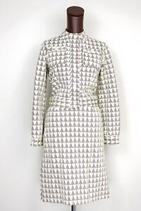 VTG-Veneziano-Knit-Cotton-2-Piece-Jacket-Skirt-Suit-10-Cream-Brown-Triangle