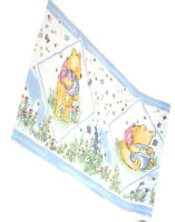 Classic Winnie The Pooh Bear Butterfly Baby Blue Nursery Wallpaper Border