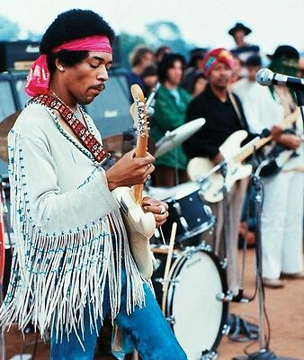 JIMI HENDRIX WOODSTOCK 1969 GLOSSY PHOTO PICTURE