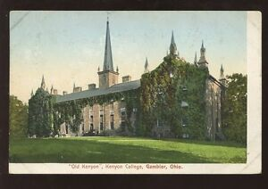 SCHOOL-COLLEGE-c1905-EARLY-UB-PPC-USA-KENYON-COLLEGE-GAMBIER-OHIO