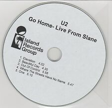 U2 - Go Home - Live From Slane - Rare UK 5trk promo only sampler CD