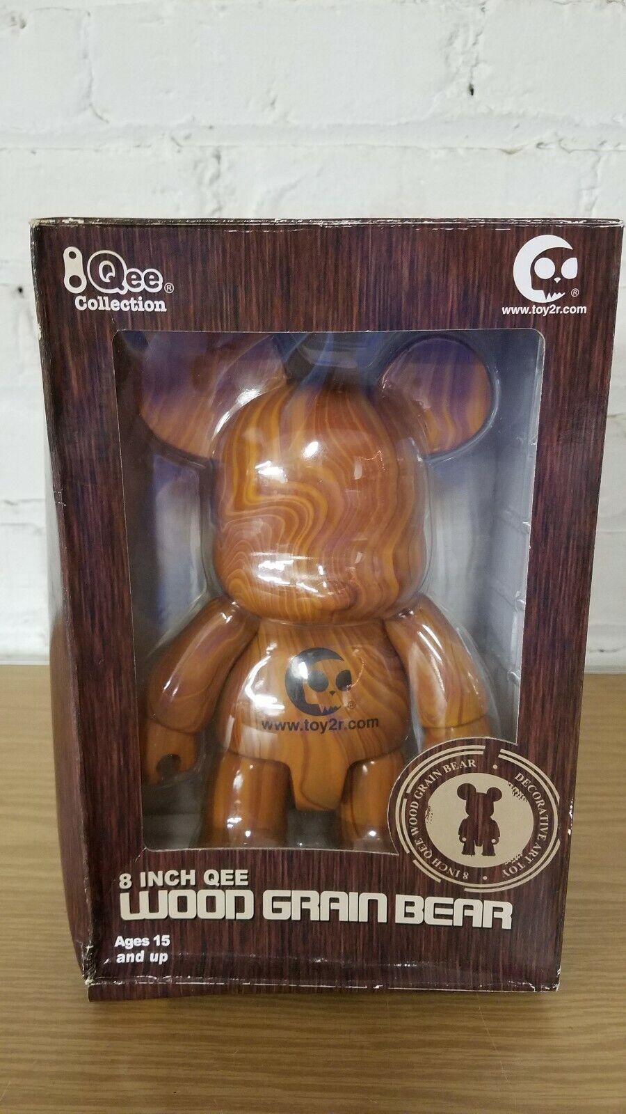 hasta un 65% de descuento Raro Raro Raro Nuevo 8 pulgadas Qee Wood grano oso de arte del juguete por Juguete2r  paquete dañado  venta con alto descuento