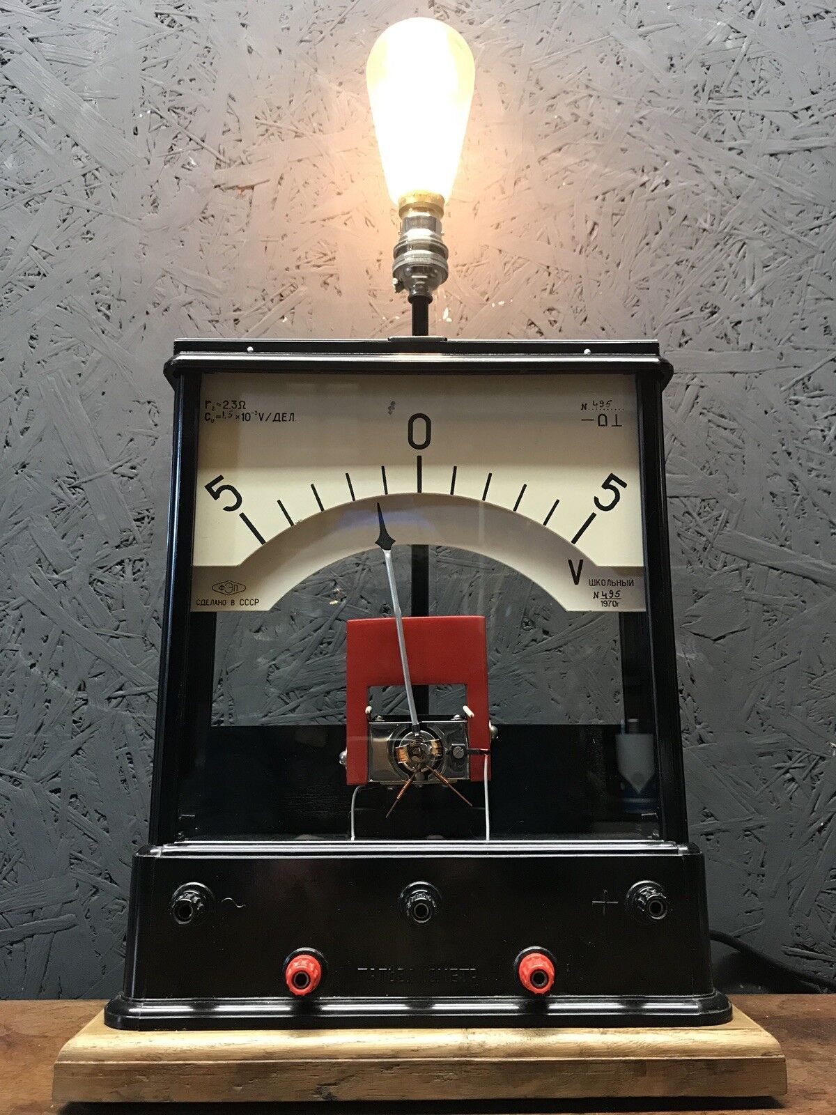 Vintage Rare Russian Volt Meter Repurposed Into A Great Lamp - PAT Tested