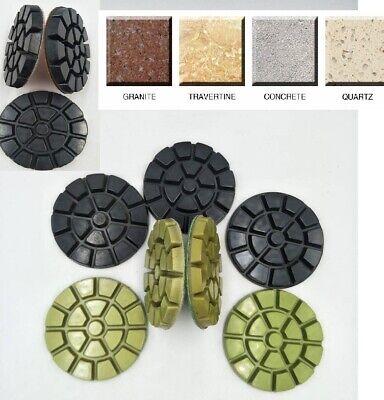 "4/"" Diamond Polishing 55 Pad Grit 30-800 Granite Marble Concrete Stone Terrazzo"