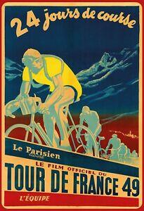 Film Tour de France 49 Tin Sign Shield Arched 20 X 30 CM FA1784