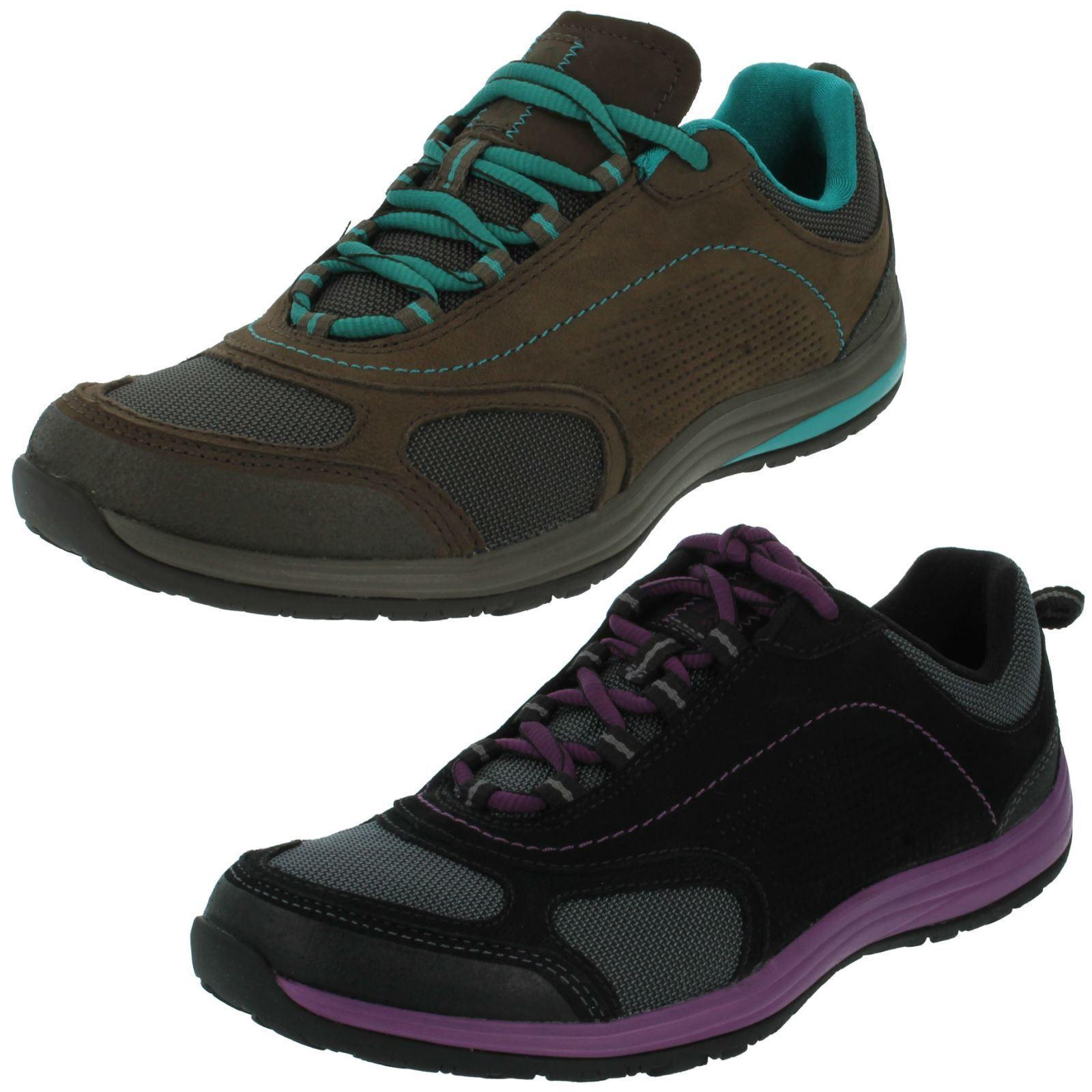 Damas Clarks Nubuck con Cordones Deportivo Zapatillas Zapatillas Zapatillas Zapatos para caminar flexible ruta de inserción  increíbles descuentos
