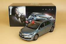 1/18 2016 new China new TOYOTA COROLLA Twin engine diecast model blue color