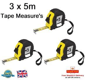 3 x Pratique maisons 5 m ruban à mesurer de haute qualité ruban à mesurer charpentier bricolage outil-afficher le titre d`origine 16cJDqhj-08144413-693798936