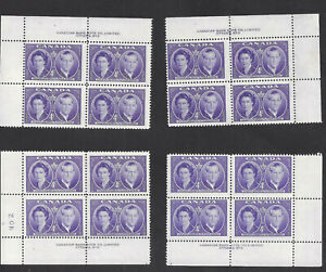 CANADA-MATCHED-SET-OF-PLATE-BLOCKS-PLATE-2-SCOTT-315-VF-MINT-NH-BS16197