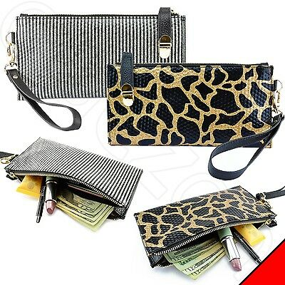 Luxury Glitter Purse Clutch Bag Wallet Case for iPhone / Smart Cell Phone