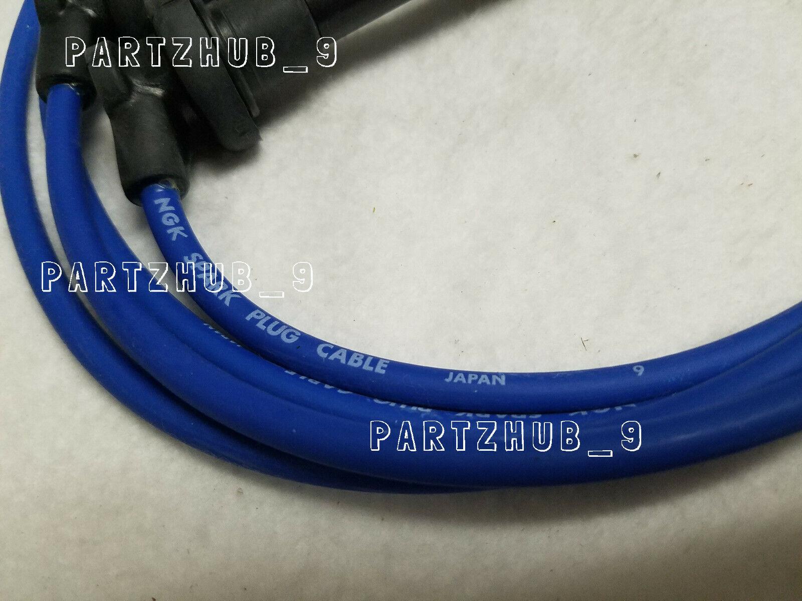 JDM Honda NGK Japan Blue OEM Spark Plug Wire Set HE76 Civic D16 # 8034