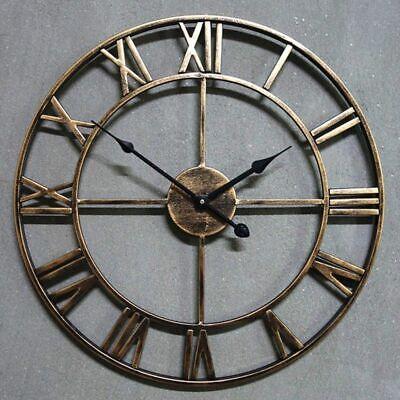 Wall Clock Saat Oversized Pared Horloge Luxury Art Big Gear Metal Vintage Living Ebay