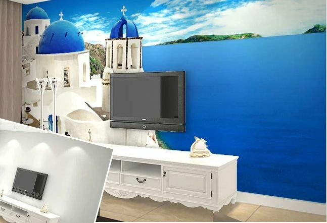 Huge 3D Fresh Weiß Building Wall Paper Wall Print Decal Wall Deco Indoor Wall