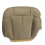 1999-2002 1500  GMC-Chevy Driver Bottom  Leather  Seat cover Med Neutral Brown
