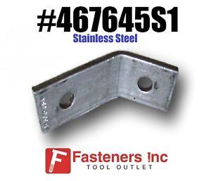Box 45 Degree Corner Angle Bracket Stainless Steel for Unistrut 10 #467645S1