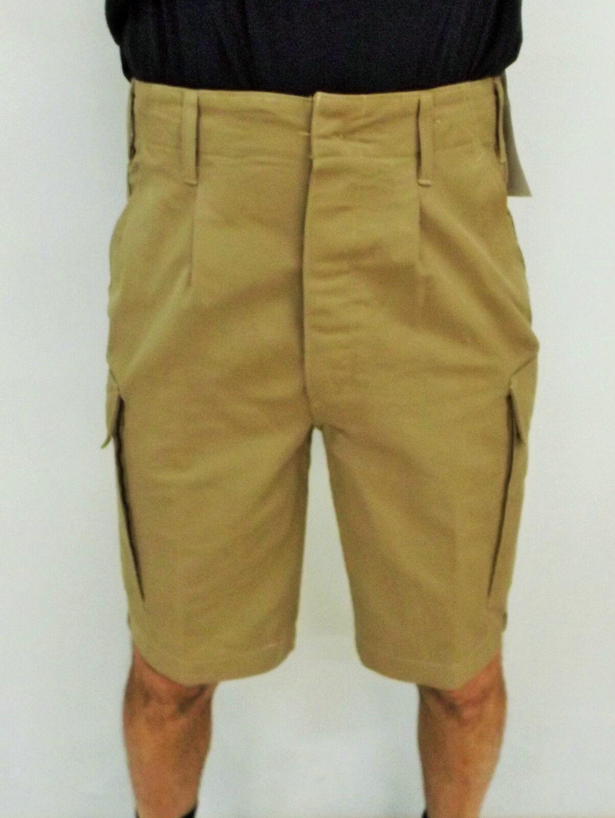 Original Leo Köhler Bw Shorts Tropical Khaki Bermuda Size  XL = 9 = 52 Moleskin